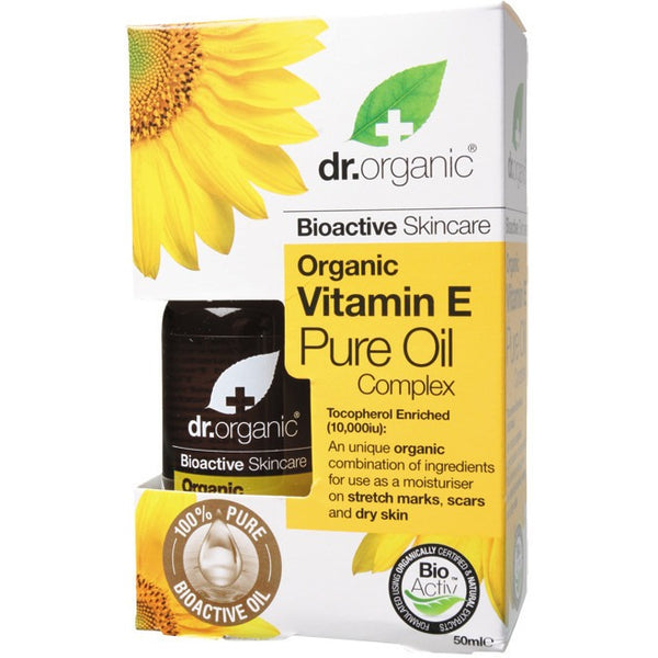 Dr Organic Organic Vitamin E Pure Oil 50ml - Essentially Health Online Vegan Health Store Afterpay