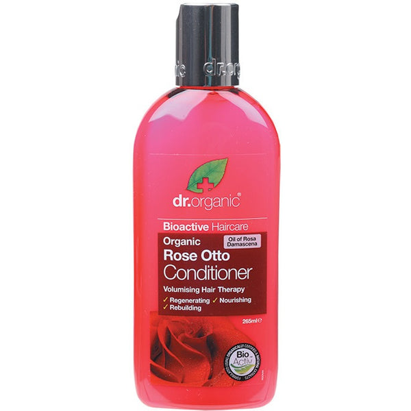 Dr Organic Organic Rose Otto Conditioner 265ml - Essentially Health Online Vegan Health Store