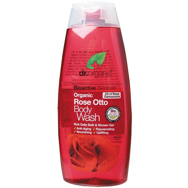 Dr Organic Organic Rose Otto Body Wash 250ml - Essentially Health Online Vegan Health Store Afterpay