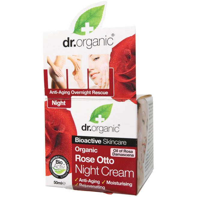 Dr Organic Organic Rose Otto Night Cream 50ml - Essentially Health Online Vegan Health Store Afterpay