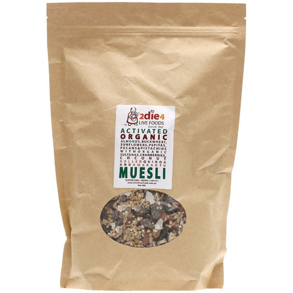 2die4 Live Foods Activated Organic Muesli - 1kg - Essentially Health Online Vegan Health Store Afterpay
