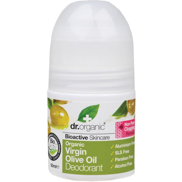 Dr Organic Organic Virgin Olive Oil Roll-on Deodorant 50ml - Essentially Health Online Vegan Health Store Afterpay