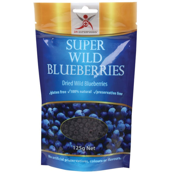 Dried Wild Blueberries Super Wild Blueberries 125g - Essentially Health Online Vegan Health Store