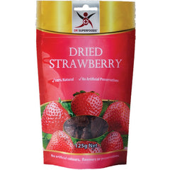 Dr Superfoods Dried Strawberry 125g - Essentially Health Online Vegan Health Store