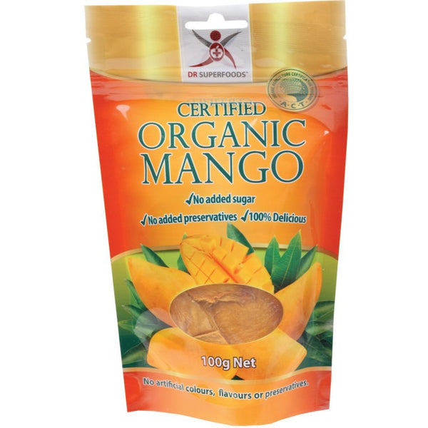 Dr Superfoods Dried Mango - Certified Organic 100g - Essentially Health Online Vegan Health Store