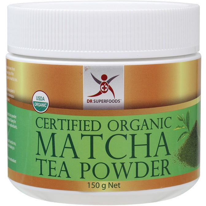Dr Superfoods Certified Organic Matcha Tea Powder 150g - Essentially Health Online Vegan Health Store Afterpay