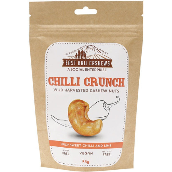 East Bali Cashews Cashew Nuts Chili Crunch 75g - Essentially Health Online Vegan Health Store Afterpay