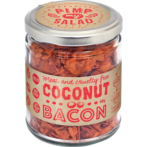 Extraordinary Foods Pimp My Salad - Coconut Bacon 60g - Essentially Health Online Vegan Health Store