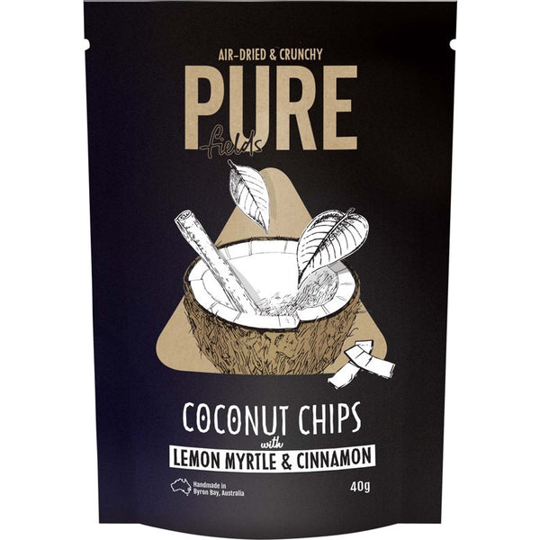 Pure Fields - Coconut Chips With Lemon Myrtle & Cinnamon 40g