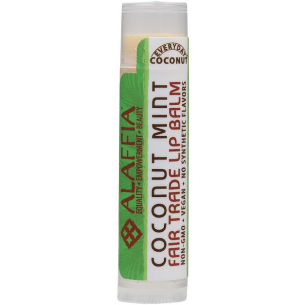 Alaffia Lip Balm Coconut and Mint 4.25g - Essentially Health Online Vegan Health Store