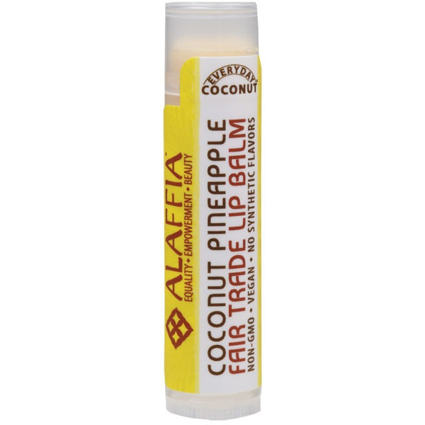 Alaffia Lip Balm Coconut Pineapple 4.25g - Essentially Health Online Vegan Health Store
