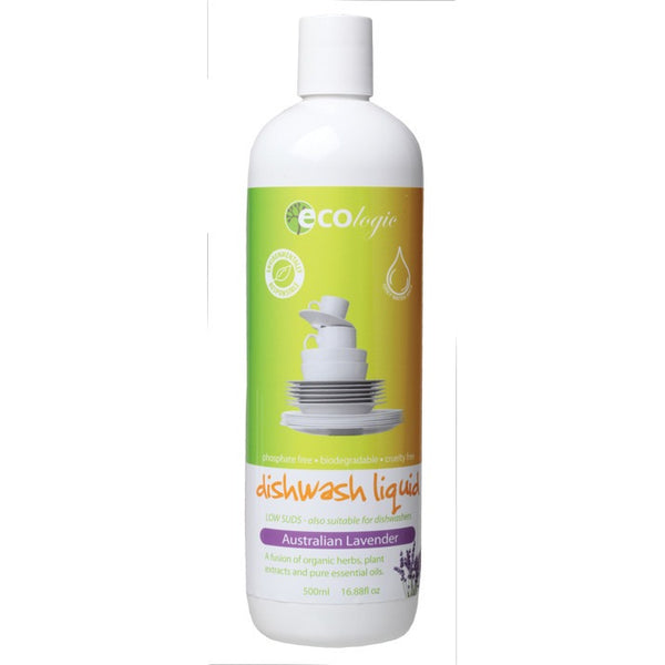 Ecologic Dishwash Liquid Australian Lavender 500ml - Essentially Health Online Vegan Health Store Afterpay