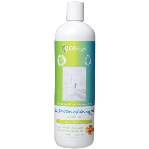 Ecologic Bathroom Cleaning Gel Citrus & Tea Tree 500ml - Essentially Health Online Vegan Health Store