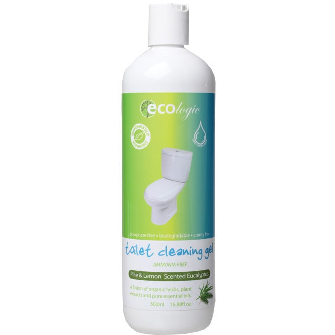 Ecologic Toilet Cleaning Gel Pine, Lemon & Eucalyptus 500ml - Essentially Health Online Vegan Health Store Afterpay