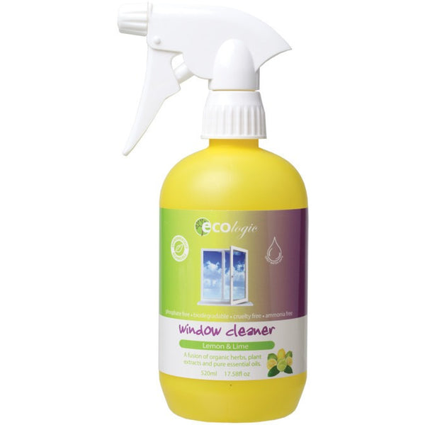 Ecologic Window Cleaner Lemon-Lime 520ml - Essentially Health Online Vegan Health Store