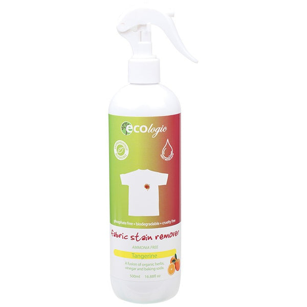 Ecologic Fabric Stain Remover Tangerine 500ml - Essentially Health Online Vegan Health Store