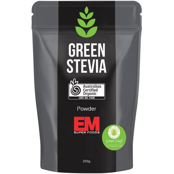 EM Superfoods Green Stevia Leaf Powder 100% Pure 250g - Essentially Health Online Vegan Health Store Afterpay