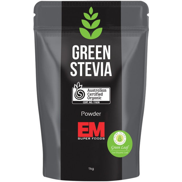 EM Superfoods Green Stevia Leaf Powder 100% Pure 1kg - Essentially Health Online Vegan Health Store Afterpay