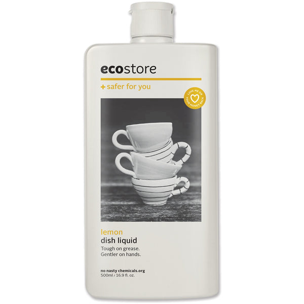 Ecostore Dishwash Liquid Lemon 500ml - Essentially Health Online Vegan Health Store Afterpay