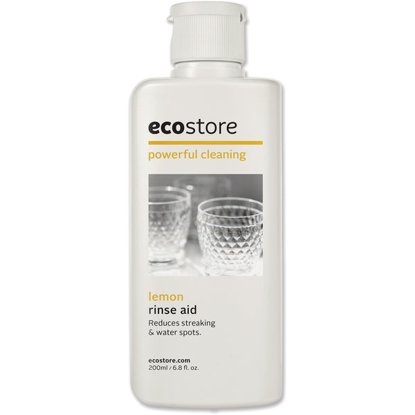 Ecostore Dishwasher Rinse Aid Lemon 200ml - Essentially Health Online Vegan Health Store Afterpay