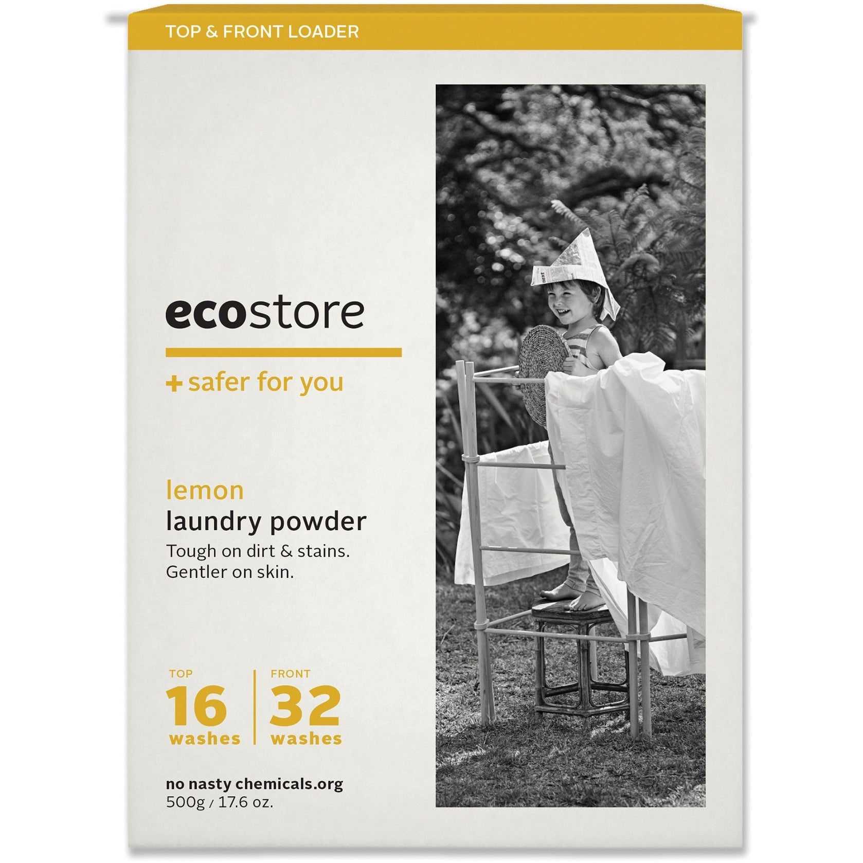 Ecostore Laundry Powder Lemon 500g - Essentially Health Online Vegan Health Store Afterpay