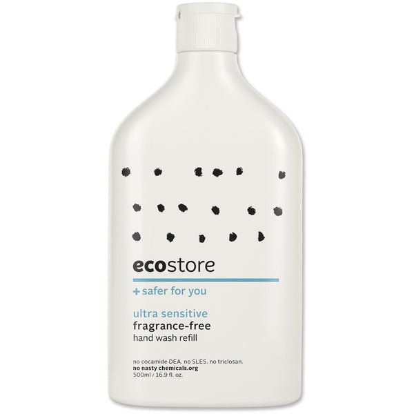 Ecostore Fragrance Free Hand Wash (Refill) 500ml - Essentially Health Online Vegan Health Store Afterpay