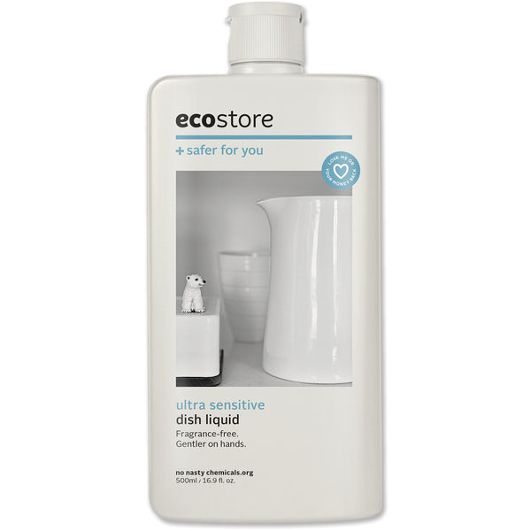 Ecostore Dishwash Liquid Fragrance Free 500ml - Essentially Health Online Vegan Health Store Afterpay