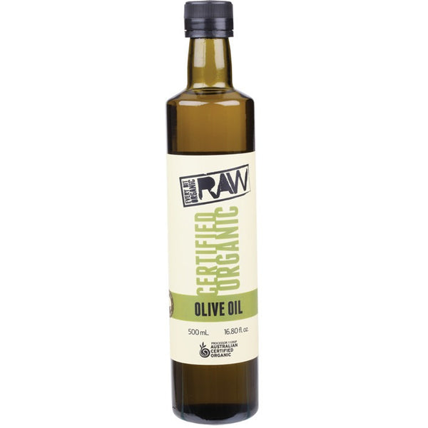 Every Bit Organic Raw Olive Oil Cold Press - Extra Virgin 500ml - Essentially Health Online Vegan Health Store