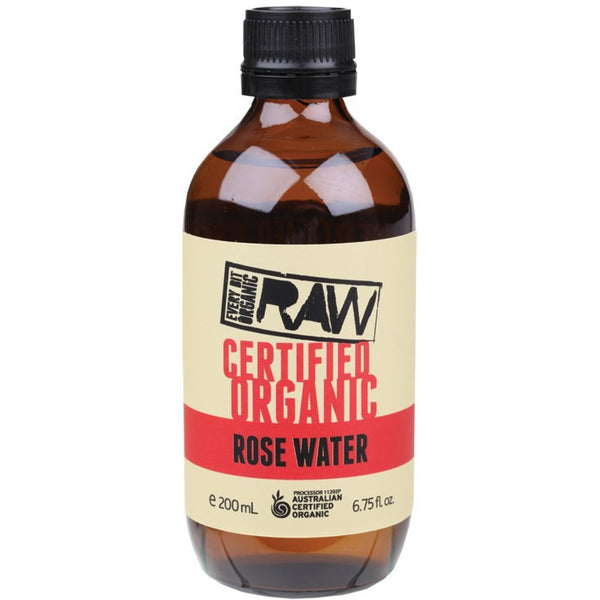 Every Bit Organic Raw Rose Water  200ml - Essentially Health Online Vegan Health Store Afterpay
