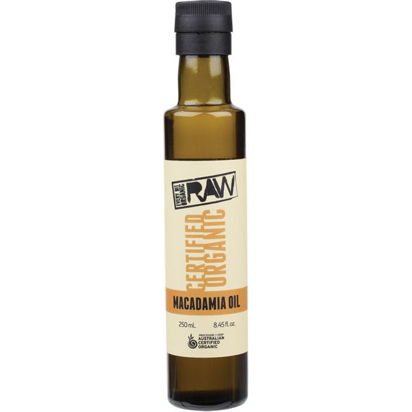Every Bit Organic Raw Macadamia Oil Cold Pressed - Extra Virgin 250ml - Essentially Health Online Vegan Health Store