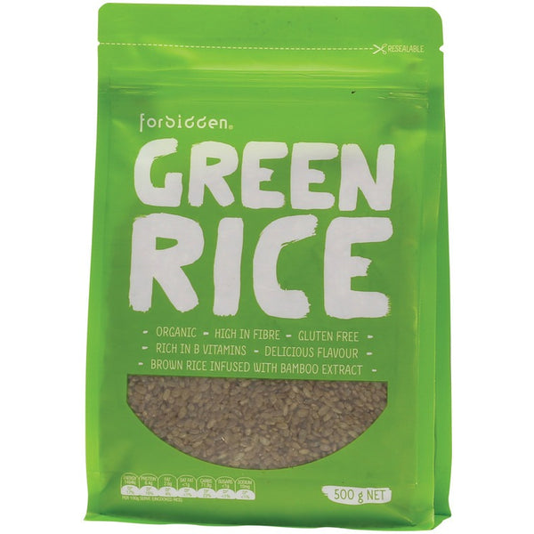 Forbidden Green Rice (Parboiled Brown Rice) With Bamboo Extract 500g - Essentially Health Online