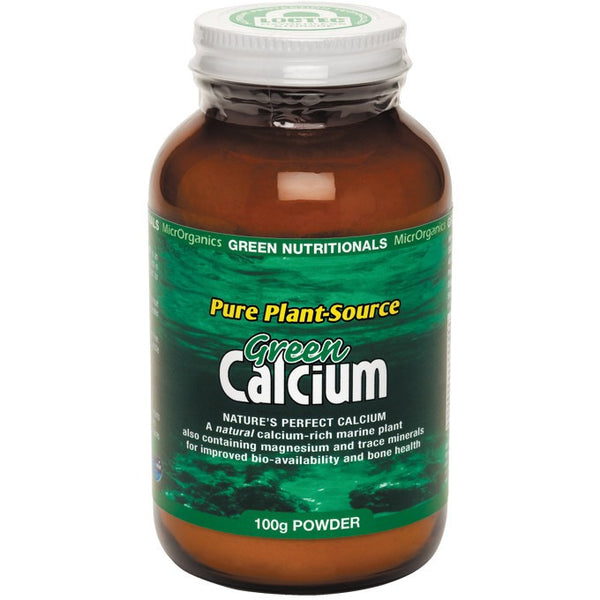 Green Nutritionals Green Calcium (Plant Source) Powder 100g - Essentially Health Online Vegan Health Store