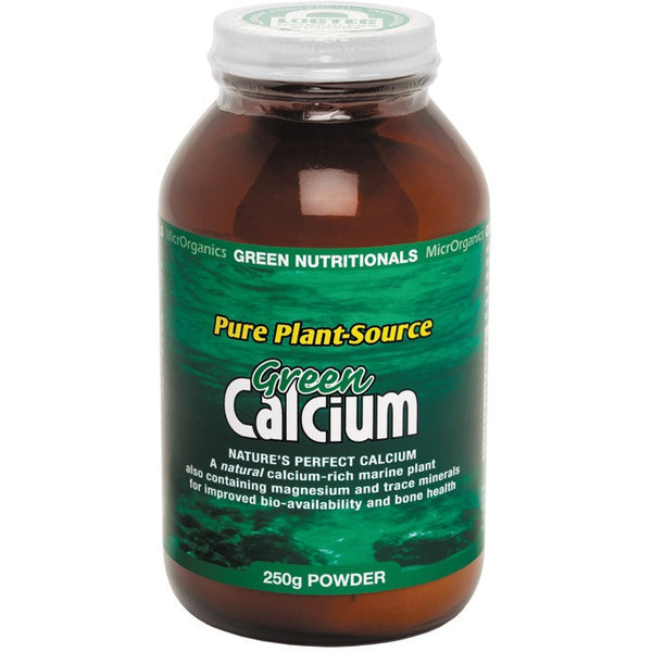 Green Nutritionals Green Calcium (Plant Source) Powder 250g - Essentially Health Online Vegan Health Store