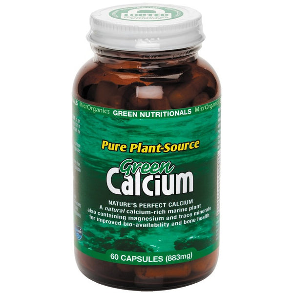 Green Nutritionals Green Calcium (Plant Source) Capsules (883mg) 60 Caps - Essentially Health Online Vegan Health Store