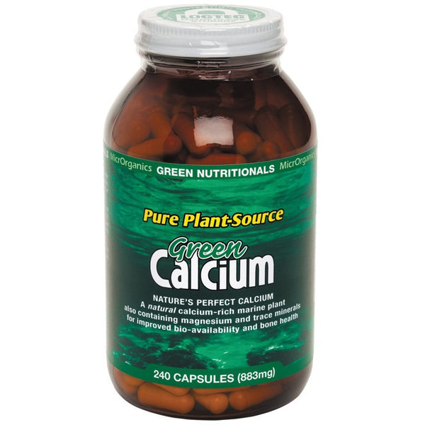 Green Nutritionals Green Calcium (Plant Source) 240 Capsules (883mg) - Essentially Health Online Vegan Health Store