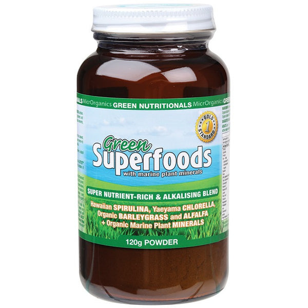 Green Nutritionals Green Superfoods Powder 120g - Essentially Health Online Vegan Health Store