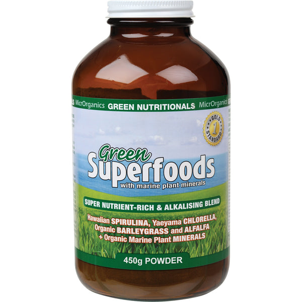 Green Nutritionals Green Superfoods Powder 500g - Essentially Health Online Vegan Health Store