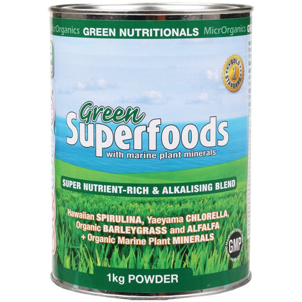 Green Nutritionals Green Superfoods Powder 1kg - Essentially Health Online Vegan Health Store