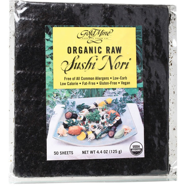 Gold Mine Sushi Nori Organic Raw (50 Sheets) 125g - Essentially Health Online Vegan Health Store