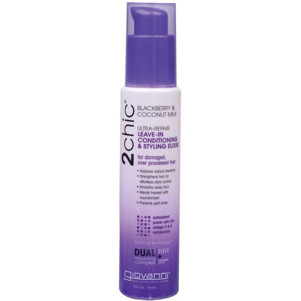 Giovanni Leave-in Conditioner - 2chic Ultra-Repair (Damaged, Processed Hair) 118ml - Essentially Health Online Vegan Health Store Afterpay