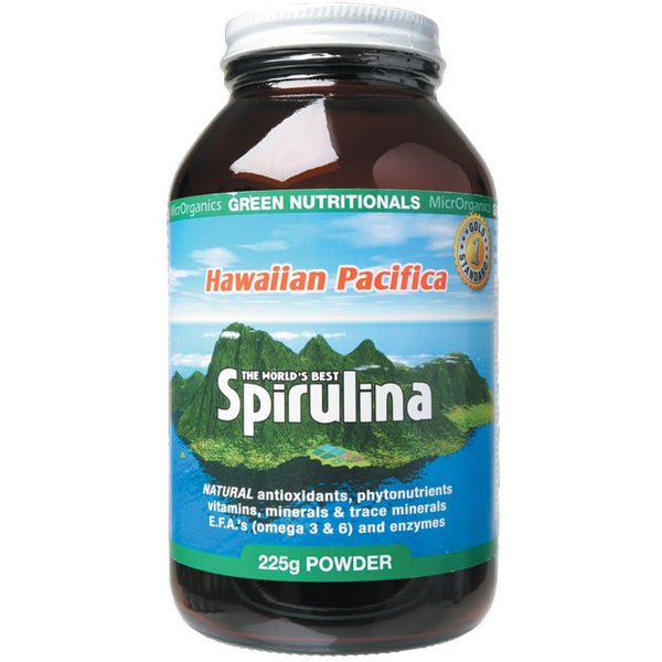 Green Nutritionals Hawaiian Pacifica Spirulina Powder 225g - Essentially Health Online Vegan Health Store