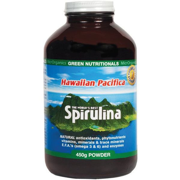Green Nutritionals Hawaiian Pacifica Spirulina Powder 450g - Essentially Health Online Vegan Health Store
