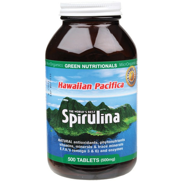 Green Nutritionals Hawaiian Pacifica Spirulina Tablets 500 (500mg) - Essentially Health Online Vegan Health Store