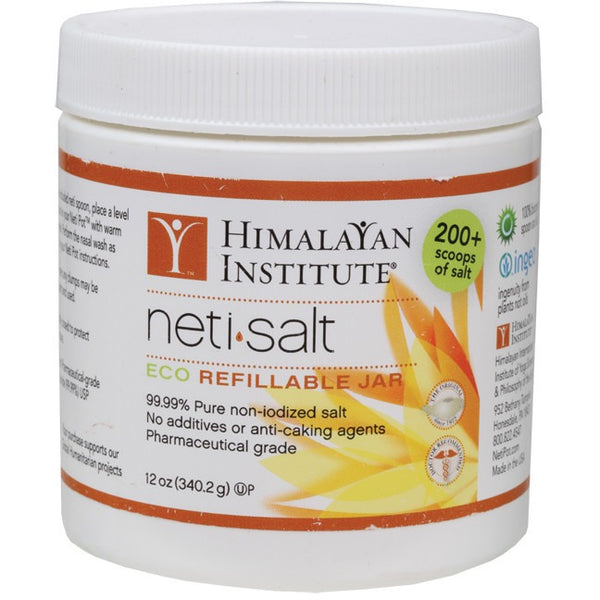 Himalayan Institute Neti Salt For Neti Pot 340g - Essentially Health Online Vegan Health Store Afterpay