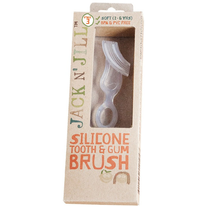 Jack N' Jill Silicone Tooth & Gum Brush - Essentially Health Online Vegan Health Store Afterpay