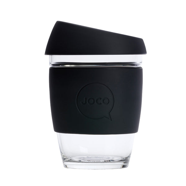 JOCO Reusable Glass Cup Regular 12oz - Black 354ml - Essentially Health Online Vegan Health Store Afterpay