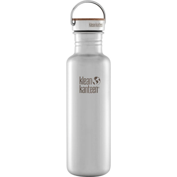 Klean Kanteen Bottle Reflect Stainless Bamboo Cap - 800ml - Essentially Health Online Vegan Health Store Afterpay