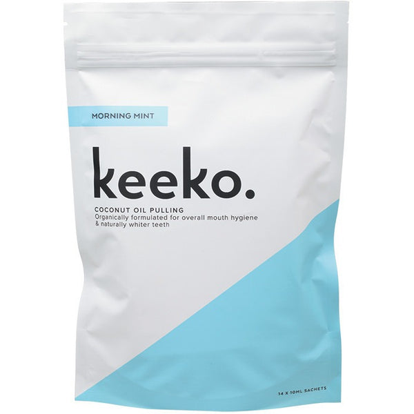 Keeko Coconut Oil Pulling Morning Mint 14 x 10ml - Essentially Health Online Vegan Health Store
