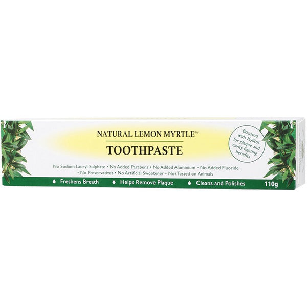 Lemon Myrtle Fragrances Toothpaste Lemon Myrtle 110g - Essentially Health Online Vegan Health Store