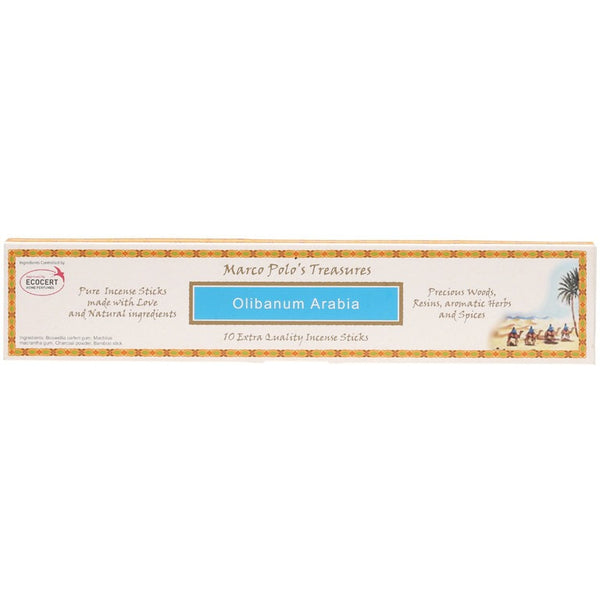 Marco Polo's Treasures Incense Sticks Olibanum Arabia x 10 - Essentially Health Online